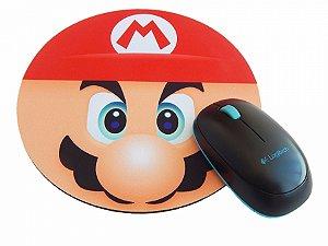 Mousepad Redondo Mario Bros Face