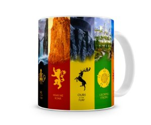 Caneca Game of Thrones Casas VI