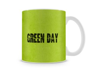 Caneca Green Day Warning