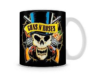 Caneca Guns N Roses Logo Preta