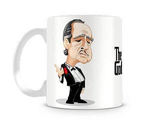 Caneca Poderoso Chefão Vito Corleone Caricatura