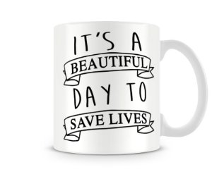 Caneca Greys Anatomy To save lives