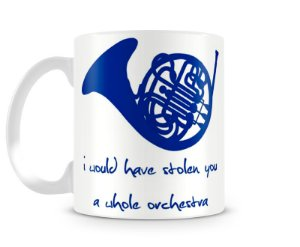 Caneca How I met your mother blue french horn