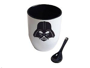 Caneca com colher Darth Vader