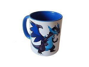 Caneca Pokémon Mega Charizard color blue