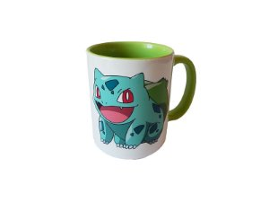 Caneca Pokémon Bulbasaur color green
