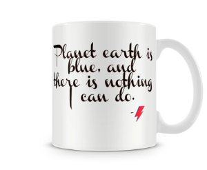 Caneca David Bowie Space Oddity Earth