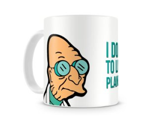 Caneca Futurama Doutor Farnsworth