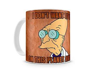 Caneca Futurama Doutor Farnsworth II