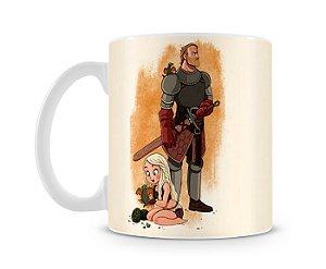 Caneca Game of Thrones Daenerys e Jorah desenho