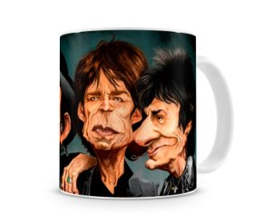 Caneca Rolling Stones Caricatura Banda