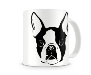 Caneca boston terrier color black