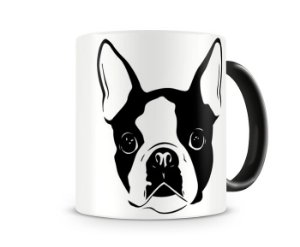 Caneca boston terrier color black II