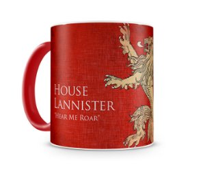 Caneca Game of Thrones lannister color red