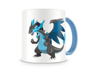 Caneca Pokémon Mega Charizard color blue