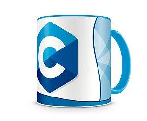 Caneca Linguagem C color Azul