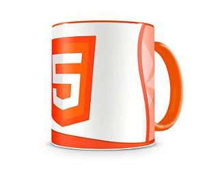 Caneca Linguagem HTML5 color Laranja
