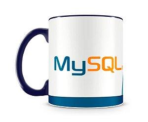 Caneca Linguagem MySQL color Azul