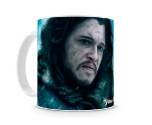 Caneca Game of Thrones Jon Snow Wolf