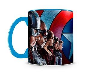 Caneca Capitão América Guerra Civil Blue