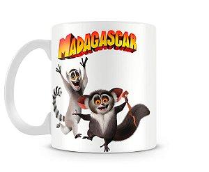 Caneca Madagascar Rei Julien e Maurice