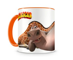 Caneca Madagascar Gloria e Melman Orange