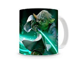 Caneca Star Wars Yoda Sabre