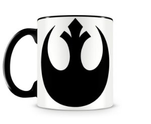 Caneca Star Wars Rebel Alliance Black