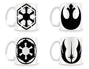 Kit 4 Caneca Star Wars Símbolos
