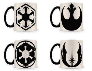 Kit 4 Canecas Mágicas Star Wars Símbolos