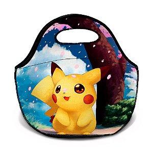 Bolsa Térmica Neoprene Pokemon Pikachu Desenho