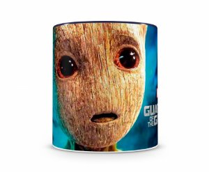 Caneca Guardiões da Galaxia Baby Groot II Azul