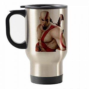 Caneca térmica para carro G.O.W. Kratos III Inox