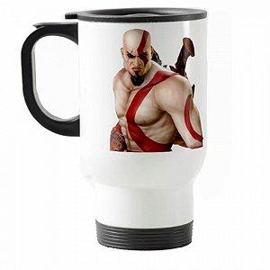 Caneca térmica para carro G.O.W. Kratos III Branca