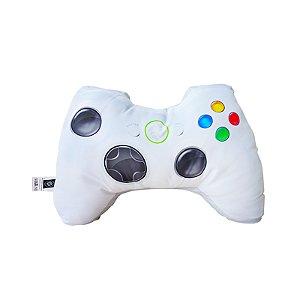 Almofada formato controle videogame branco
