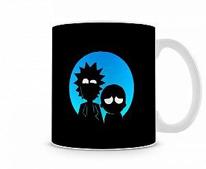 Caneca Rick And Morty Lua Azul