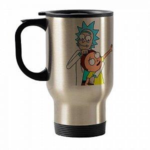 Caneca térmica para carro Rick And Morty mod 1