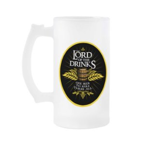 Caneca de chopp senhor dos anéis Lord of the drinks