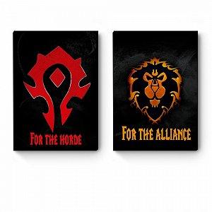 Kit 2 Quadros decorativos A4 World Of Warcraft