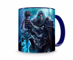 Caneca World Of Warcraft Artha I Azul