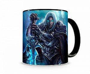 Caneca World Of Warcraft Artha I Preta