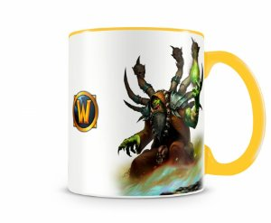 Caneca World Of Warcraft Guldan I Amarela
