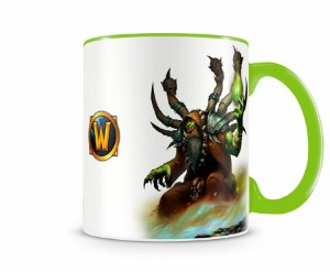 Caneca World Of Warcraft Guldan I Verde