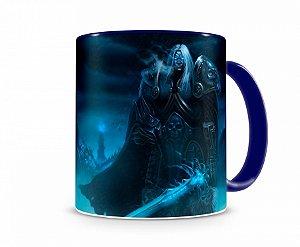 Caneca World Of Warcraft Artha III Azul
