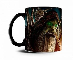 Caneca World Of Warcraft Guldan I Preta