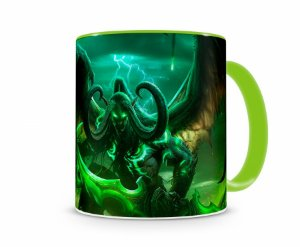 Caneca World Of Warcraft Illidan I Verde
