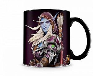 Caneca World Of Warcraft Sylvanas I Preta
