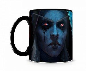Caneca World Of Warcraft Sylvanas III Preta