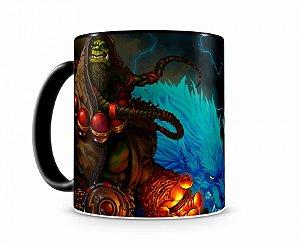 Caneca World Of Warcraft Thrall I Preta