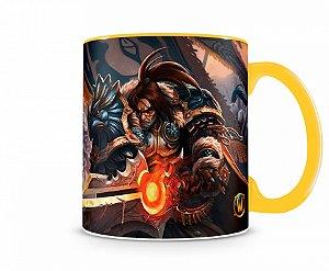 Caneca World Of Warcraft Varian I Amarela